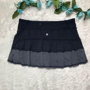 Lululemon Blue Striped Sport Skirt
